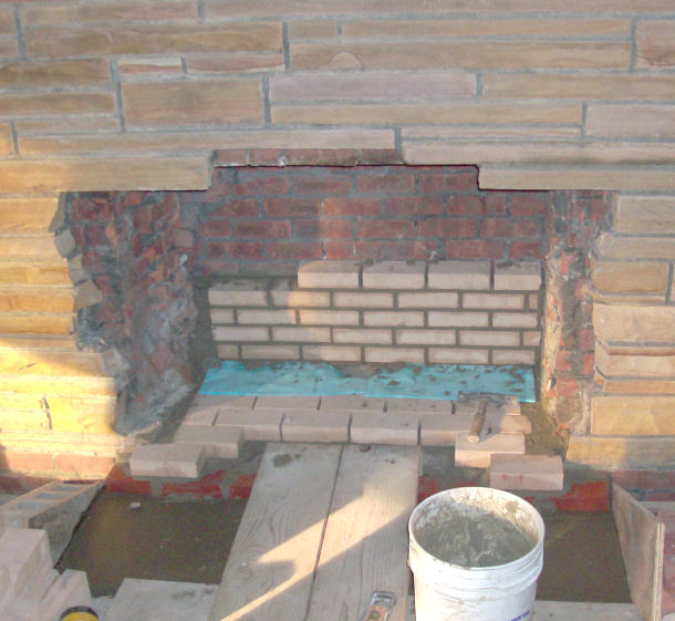 Image result for fireplace brick repair